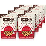Biena Roasted Chickpea Snacks, Barbeque, 5 Ounce, 8 Count