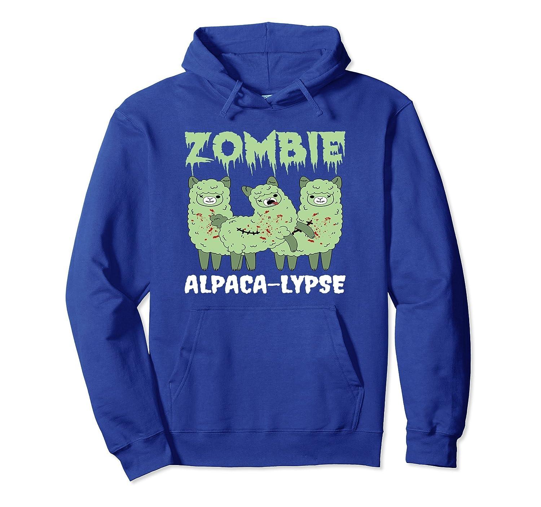 Zombie Alpaca-Lypse Dead Animal Funny Hoodie-mt