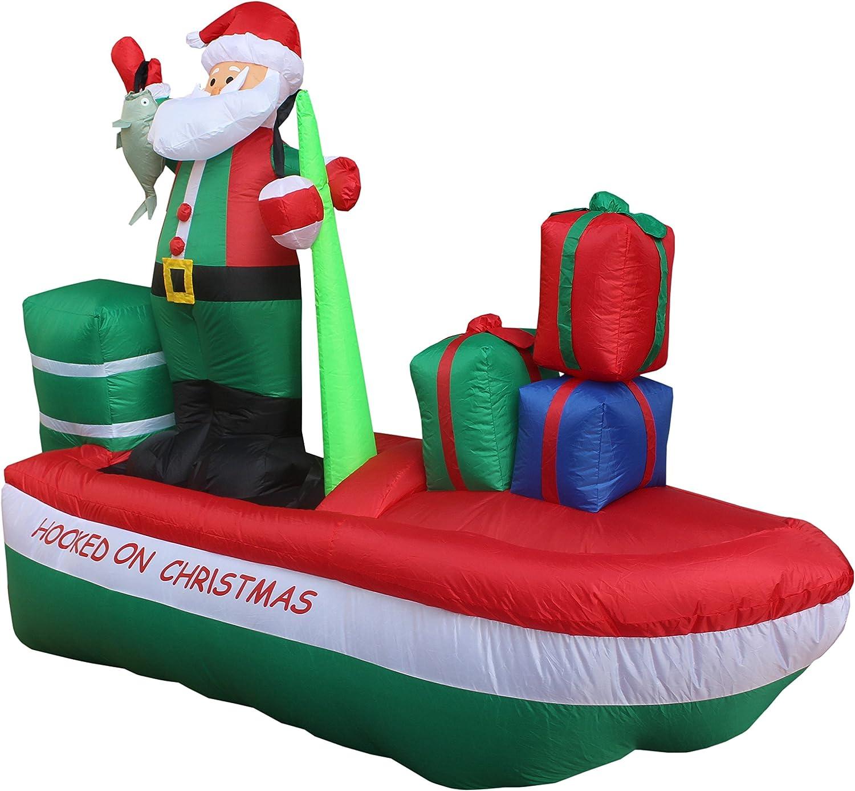 Amazon.com: 8 foot Papá Noel de Papá Noel hinchable larga en ...