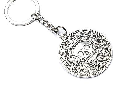 Piratas moneda de plata clave cadena - Azteca Vintage ...