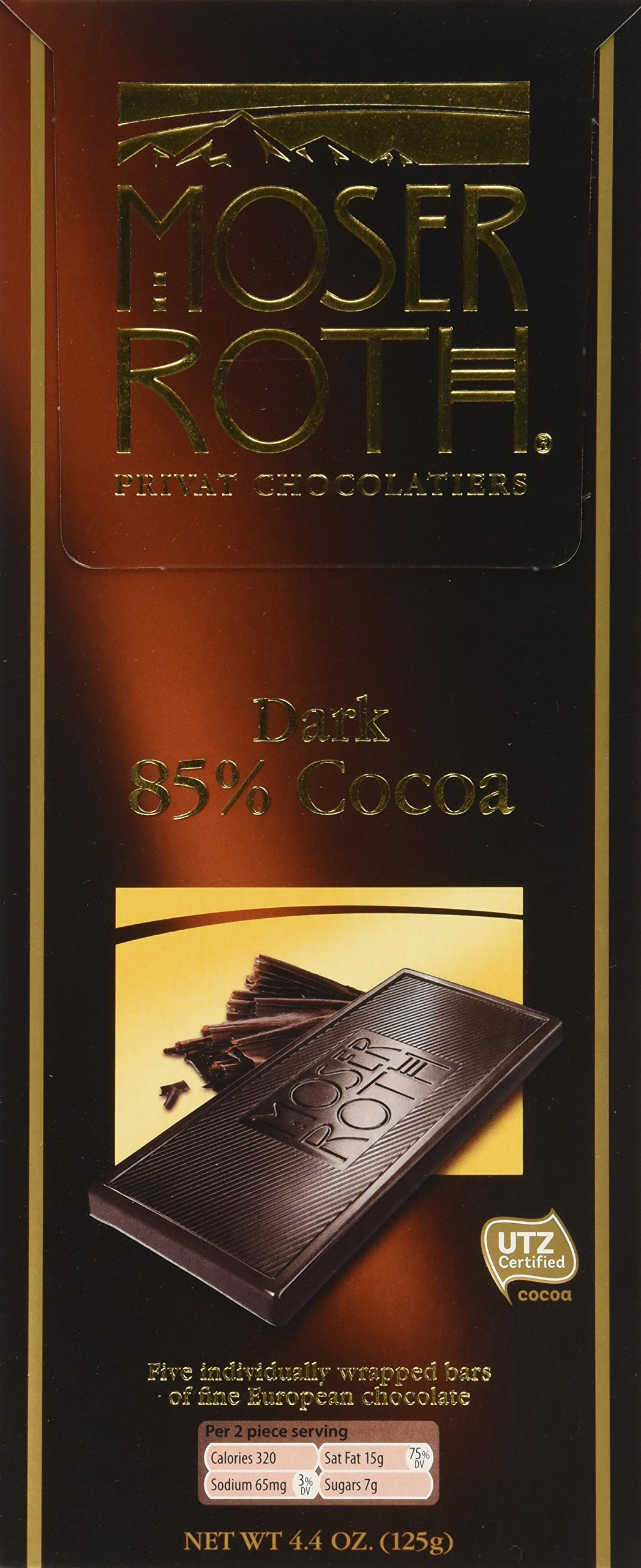 Moser Roth Privat Chocolatiers 85% Cocoa 4 Packs