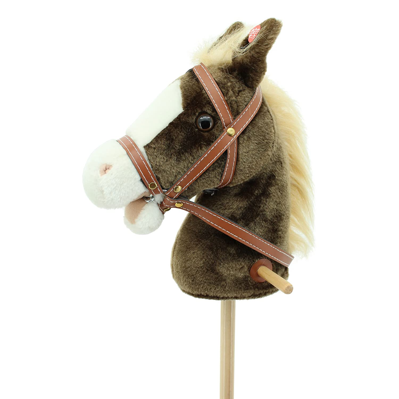 Sweety Toys 6410 tete de cheval a chevaucher MADAME CHOCOLATE avec de la musique