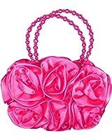Bridesmaid Or Flower Girls Satin Bag 3d Flower Dolly Handbag Wedding Communion