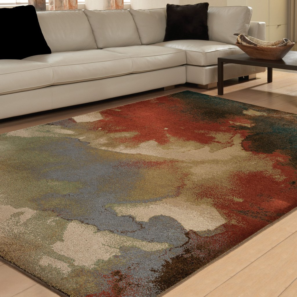 Orian Rugs Indoor/Outdoor Geometric Blotch Multi Area Rug (5'3 x 7'6) 325850