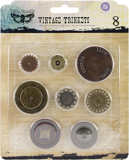 Prima Marketing Sunrise Sunset Mechanicals Metal Vintage Trinkets-Mini Numbers 20-Pack