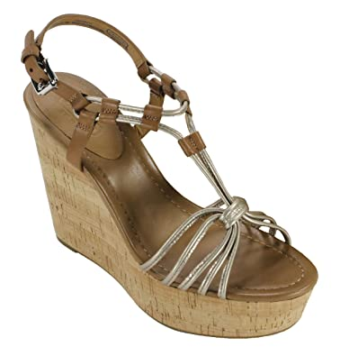 5b471b54e11 Image Unavailable. Image not available for. Color  Coach Women s Georgiana  Light Gold Pearl Metallic Ginger Leather Sandal ...