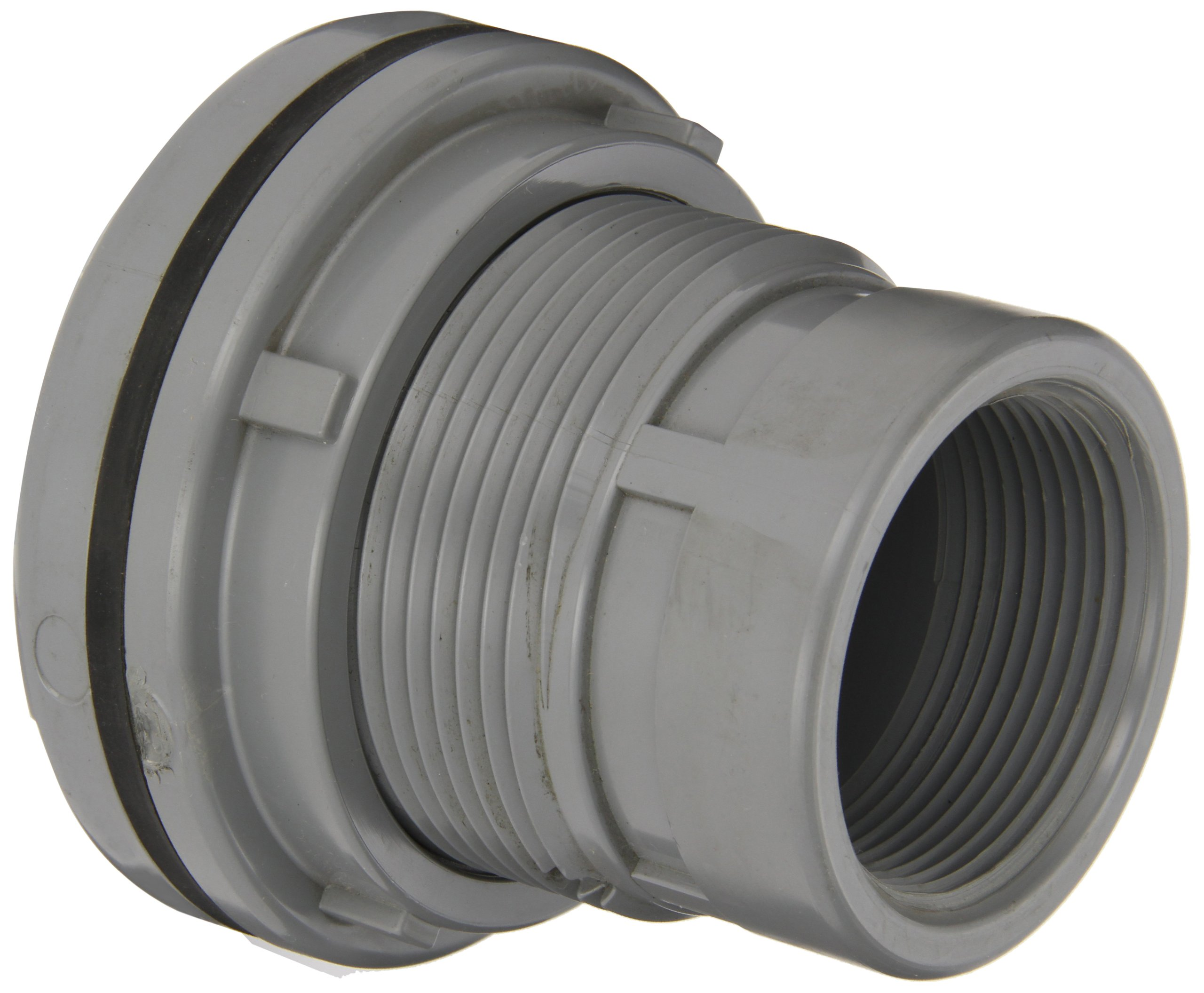 Spears 8172-C Series CPVC Bulkhead Tank Adapter, Schedule 80, Gray, 2-1/2'' NPT Female by Spears Manufacturing