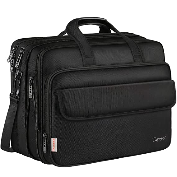 Taygeer - Bolso para ordenador portátil de 17 pulgadas,bolsa de mensajero expansible para computadora,bolso de hombro para oficina de viaje resistente al ...