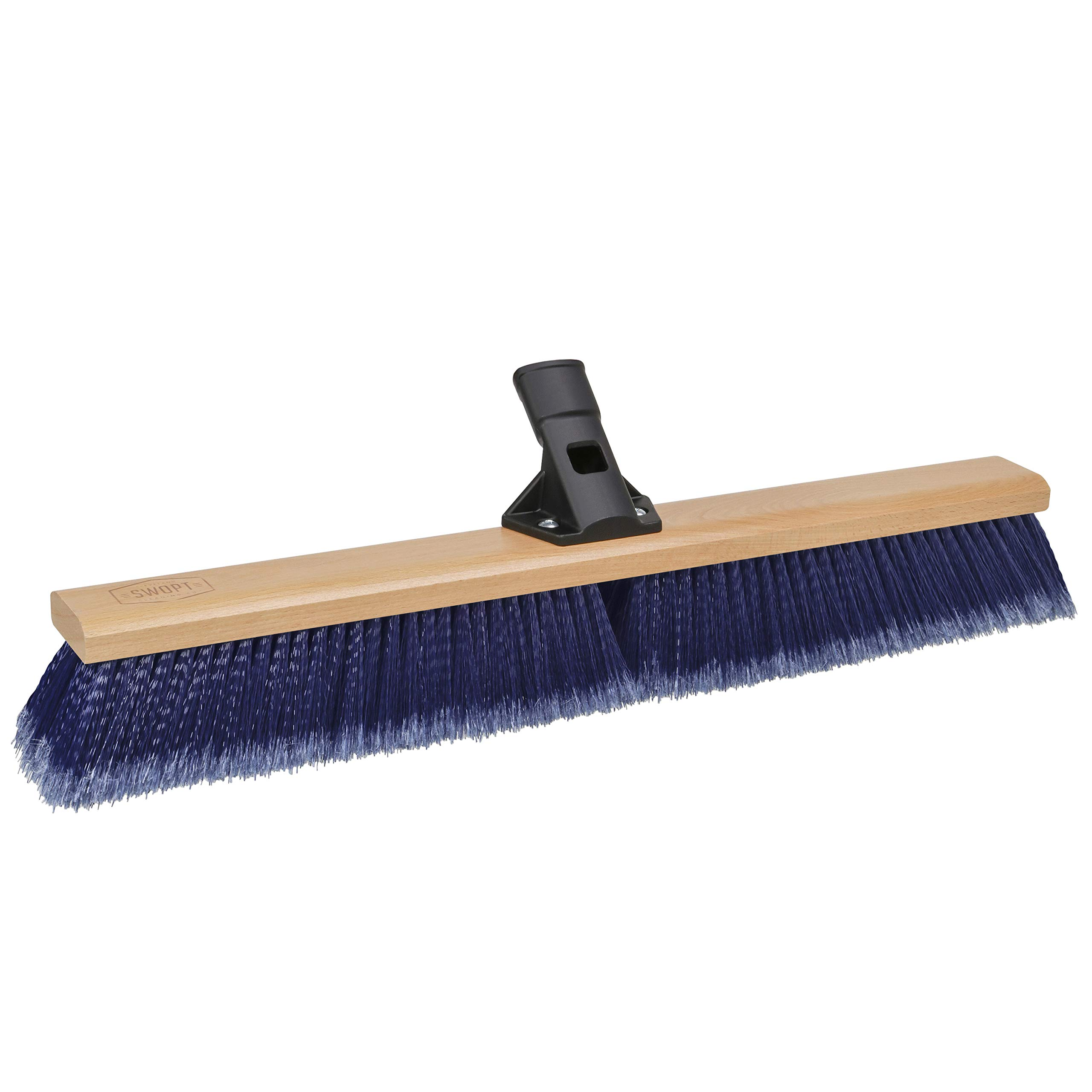 "SWOPT 24"" Premium Multi-Surface Push Broom Head – Push Broom for Indoor and Outdoor Use – Interchangeable with Other SWOPT Products for More Efficient Cleaning and Storage, Head Only, Handle Sold Separately, 5116C4"