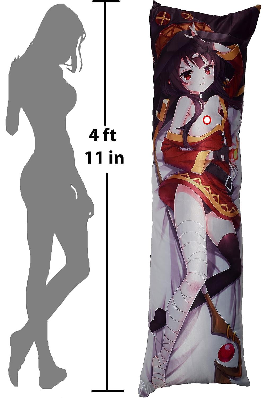 Uncensored Peach Skin 150cm x 50cm PillowCase Fireball GB Arts KonoSuba Megumin