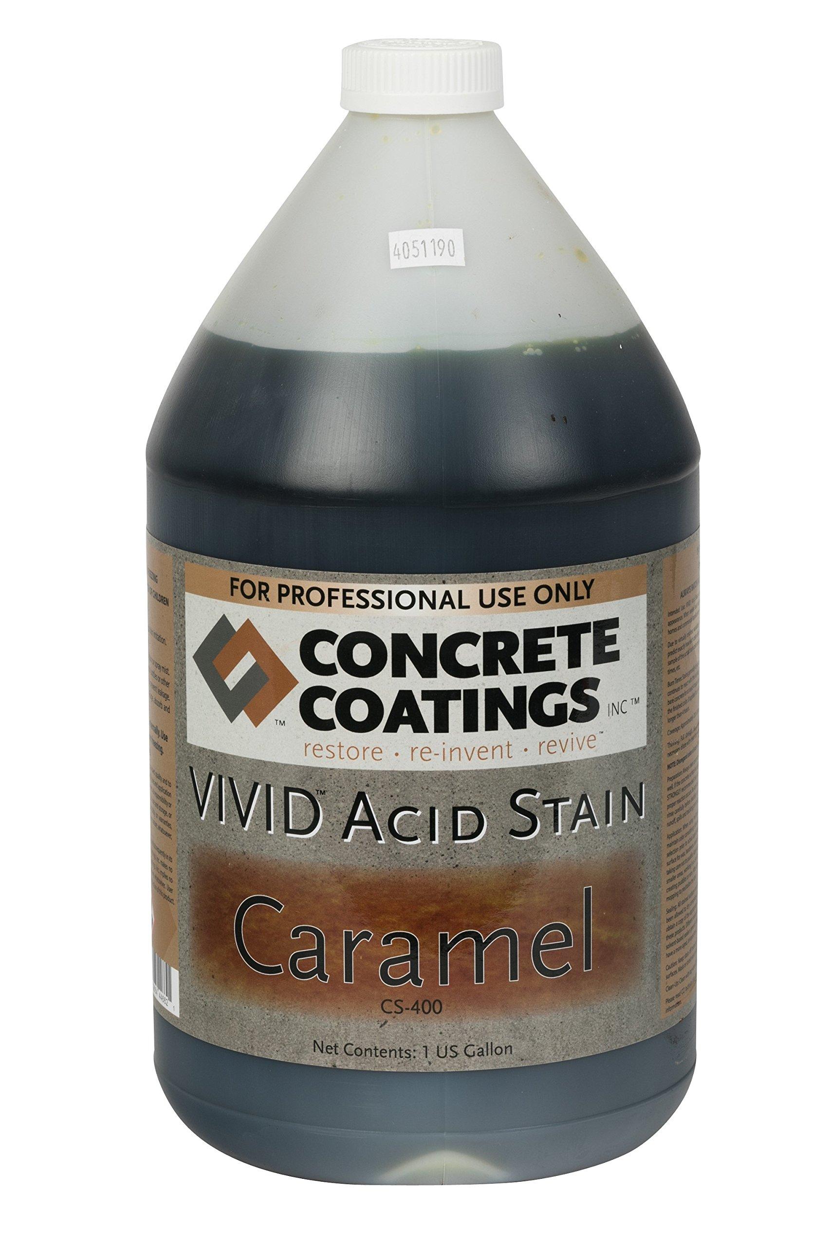 VIVID Acid Stain - 1 Gal - Caramel (Light, Yellowish Brown)