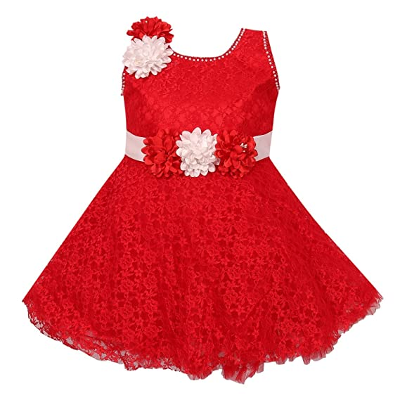 a6fdf3cde Wish Karo Baby Girls Net Frock Dress - (bxa36)  Amazon.in  Clothing ...