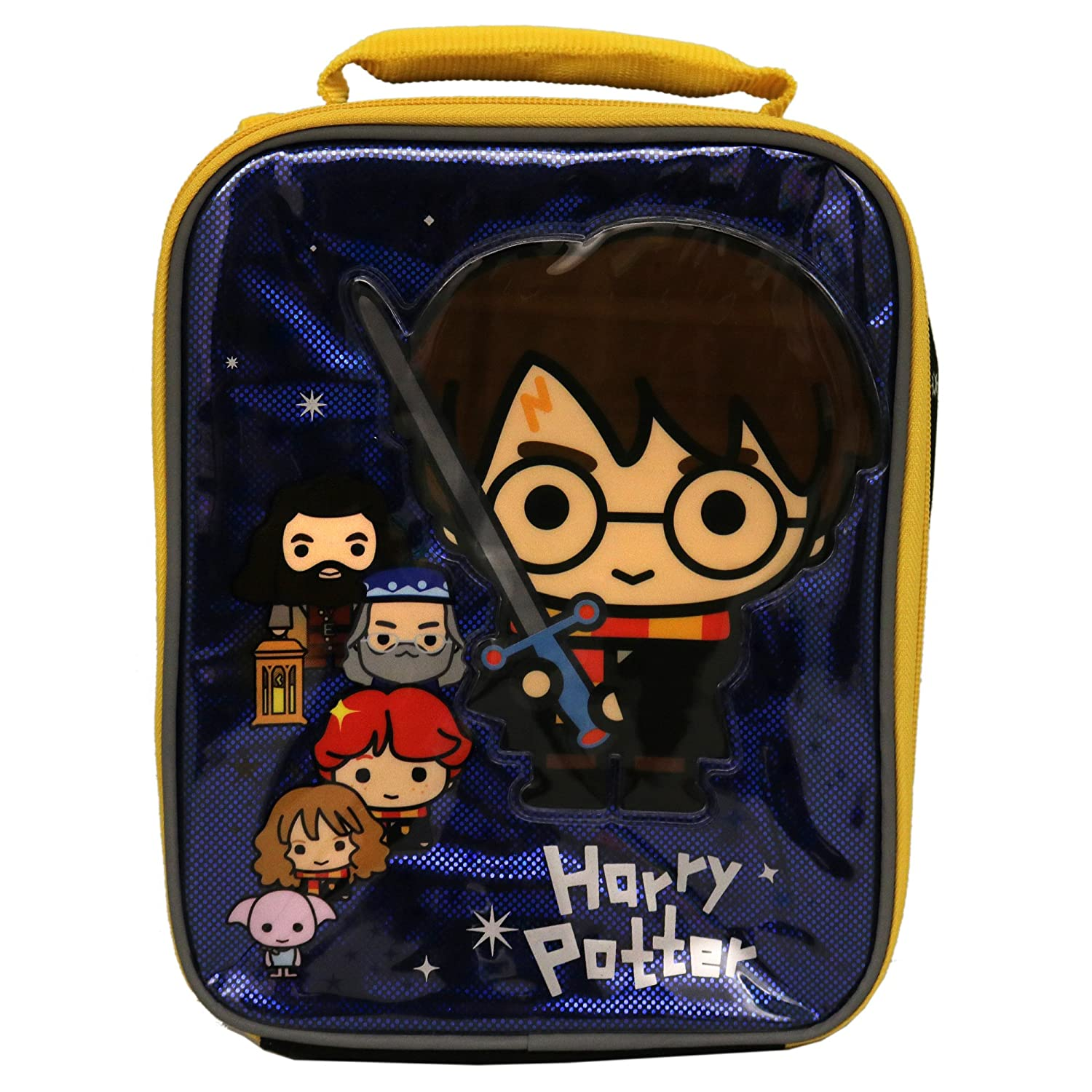 Harry Potter Lunch Box Soft Kit Insulated Bag Chibi Hogwarts Accessory Innovations