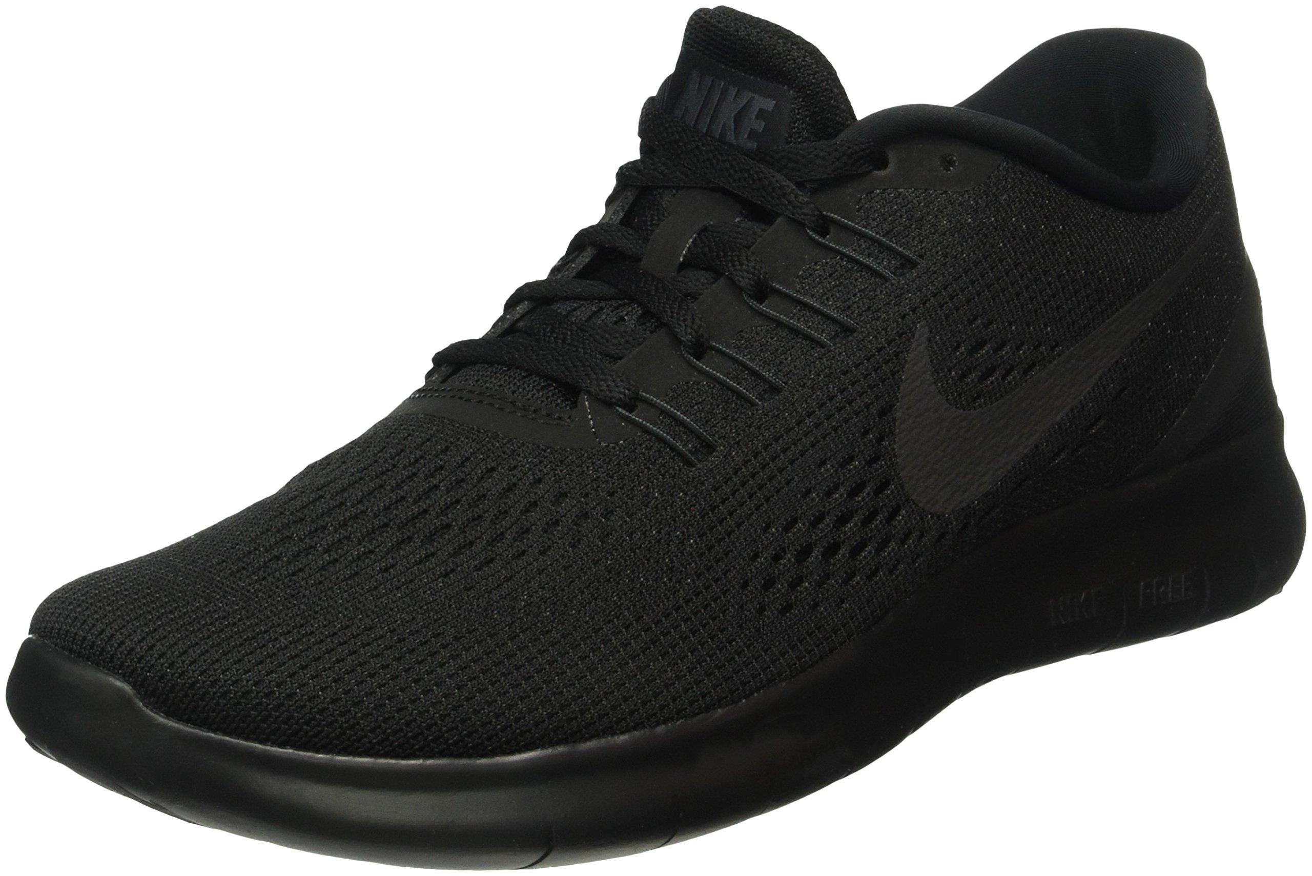 Nike Men's Free RN Running Shoe Black/Black/Anthracite (8, Black/Black-Anthracite) by Nike