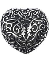 VERI Herz Gürtelschnalle Buckle 3D Elemente zu Tracht Trachtengürtel Wechselgürtelschnalle silber antik one size cm : )