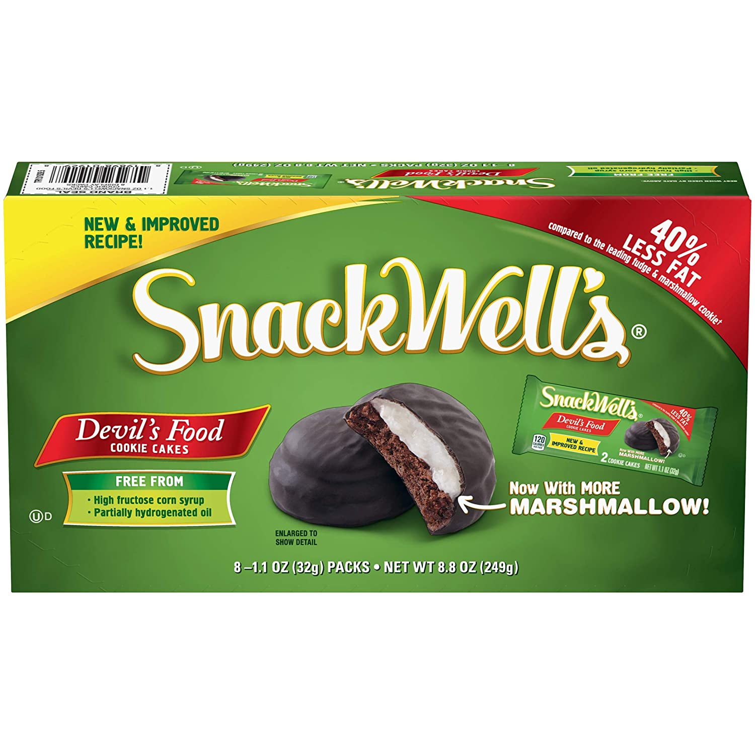SnackWell's Devil's Food Cookie Cakes, 1.1 Ounce, 8 Count