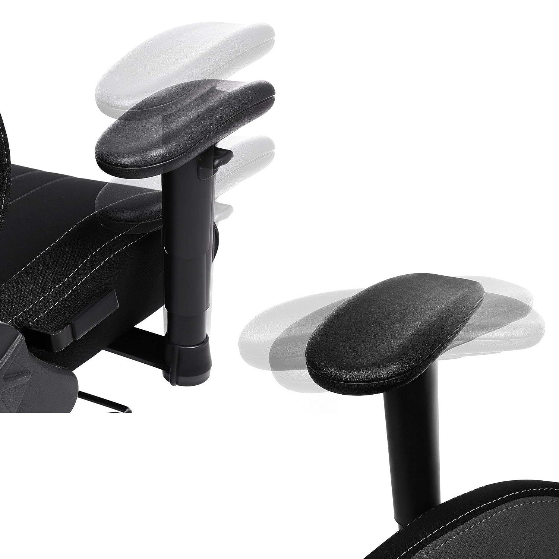 Gris RCG13BK SONGMICS Chaise Gamer Fauteuil de Bureau Chaise pour Ordinateur Hauteur r/églable Noir