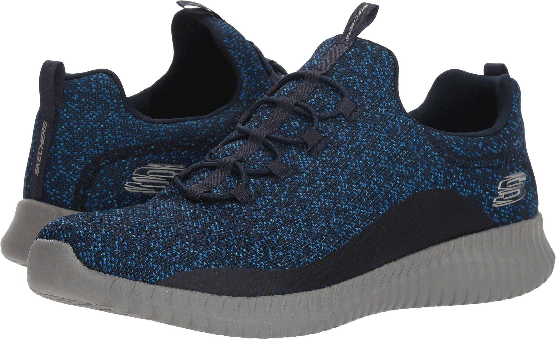 Skechers Elite Flex Mens Slip On Bungee Sneakers Navy 11