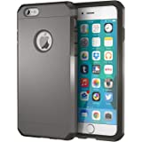 iPhone 6 Case, ImpactStrong Heavy Duty Dual Layer Extreme Protection Cover Heavy Duty Case for iPhone 6 (2014) - Gun Metal