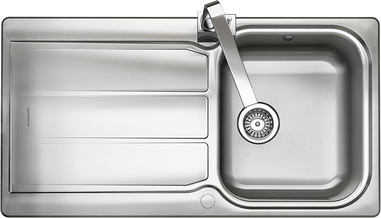 WORKTOP EXPRESS Rangemaster Sink collection - Available in a variety of Styles, Sizes and Finishes (Glendale Overmounted Inset Sink - Stainless Steel - Single Bowl (Reversible) - 950mm x 508mm)