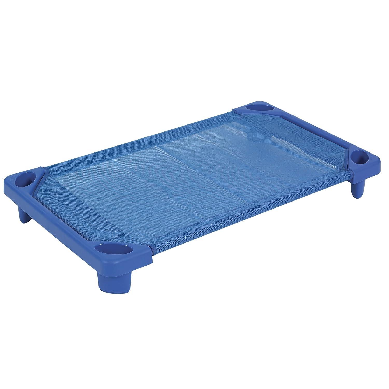 ECR4Kids Streamline Children's Naptime Cot, Stackable Daycare Sleeping Cot for Kids, 52 L x 23 W, Assembled, Blue 52 L x 23 W ELR-16123