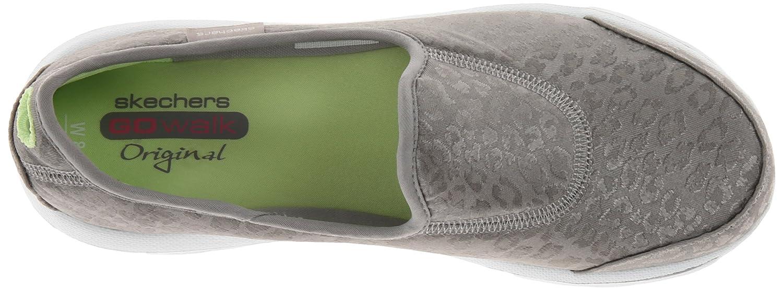 681e85d1ee64 Skechers Go Walk-Safari Women Silver Sneakers US 6  Amazon.co.uk  Shoes    Bags
