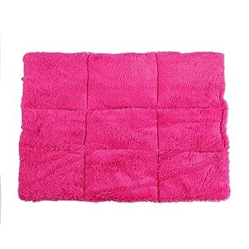 CLE DE TOUS - Cojin Colchon Caliente para Perrito Gato Mascota Casa Talla S Color Rosa 58 x 48cm