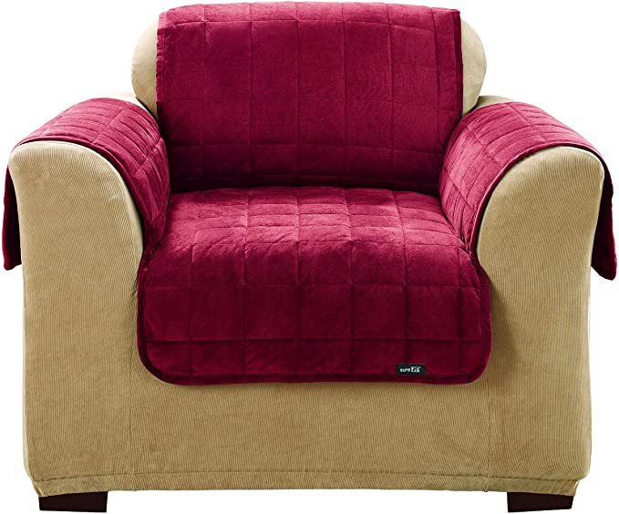 SureFit Deluxe Pet Cover - Chair Slipcover - Burgundy