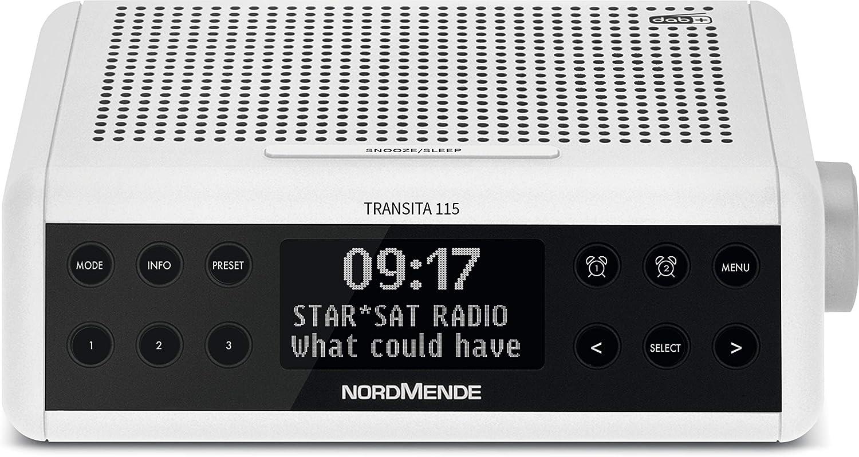 Nordmende Transita 115 Dab Radiowecker Dab Ukw Snooze Funktion Wecker Sleeptimer Weiß Heimkino Tv Video