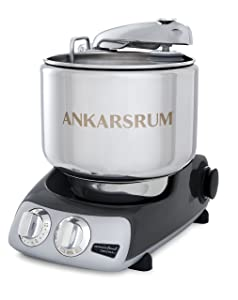Ankarsrum Assistent Original AKM 6230 Electric Stand Mixer, 7.4 Quart (Black Chrome)