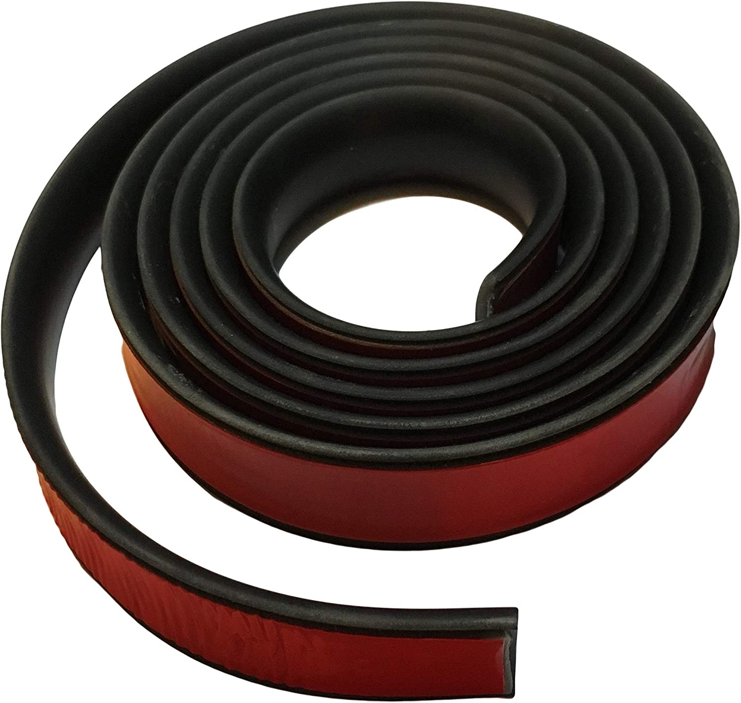 20 ft Partsman Flexible Self-Adhesive Rubber Molding 1 Wide Protective Stripping Trim Edging