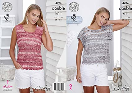 4cb2678fe48 Amazon.com: King Cole Double Knit DK Womens T-Shirt and Vest Top ...