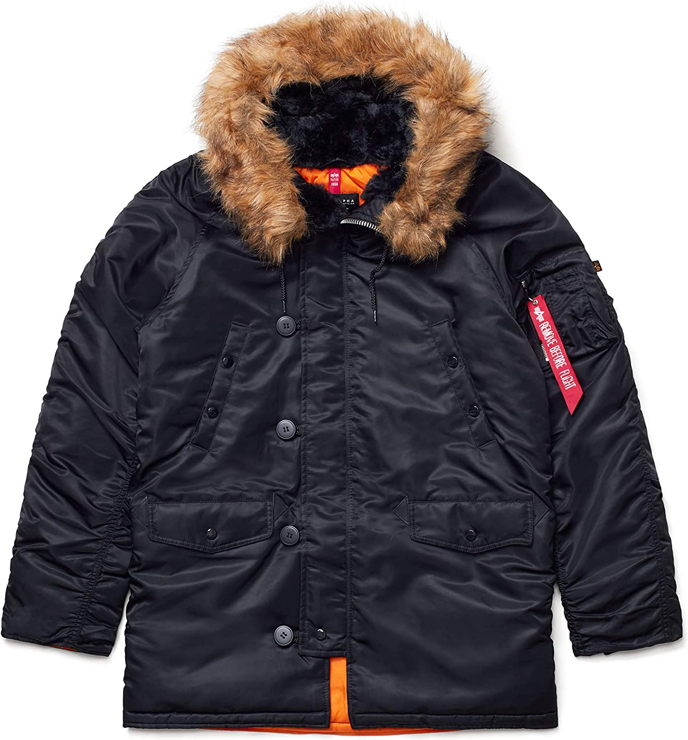 Alpha Industries N-3B Slim Fit Parka Military Iss Weather - Cold Popular product shop