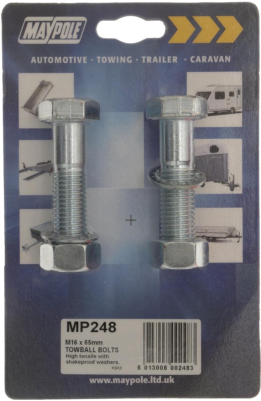 Maypole 248 Pernos para bola de remolque, 16 x 65 mm