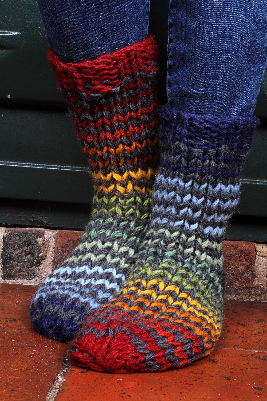 Santiago - Calcetines para sofá de lana natural multicolor