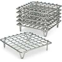 """ARROW & EAVES 4"""" Mini Stainless Steel Cooking and Cooling Racks, Set of 6 - Small Metal Trivet Display Stand for Round Pots, Pans, Hot Dishes, Wire Coaster, Kitchen Riser, Steamer, Baking Racks"""