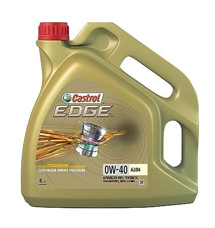 Castrol EDGE Aceite de Motores 0W-40 A3/B4 4L (Sello inglés)
