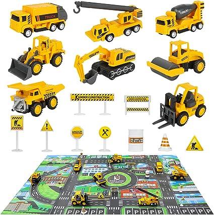 Amazon.com: Juego de juguetes para camiones de construcción ...