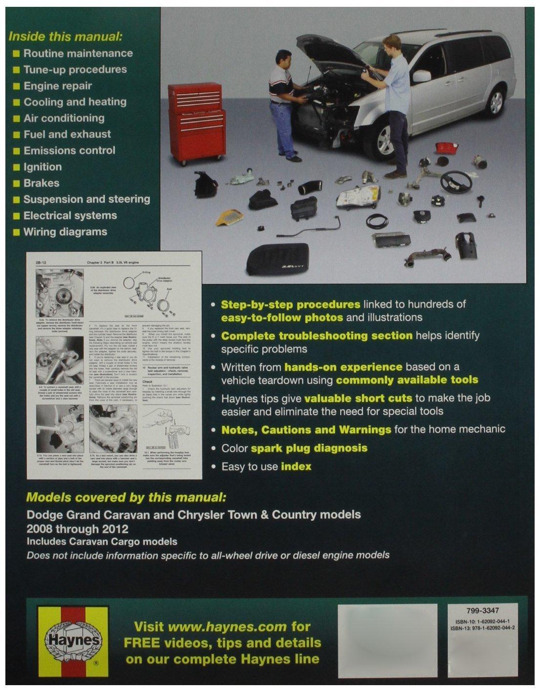 Haynes Repair Manuals Dodge Grand Caravan And Chrysler Town Diagrams Country 2008 2012 30014 Car Motorbike