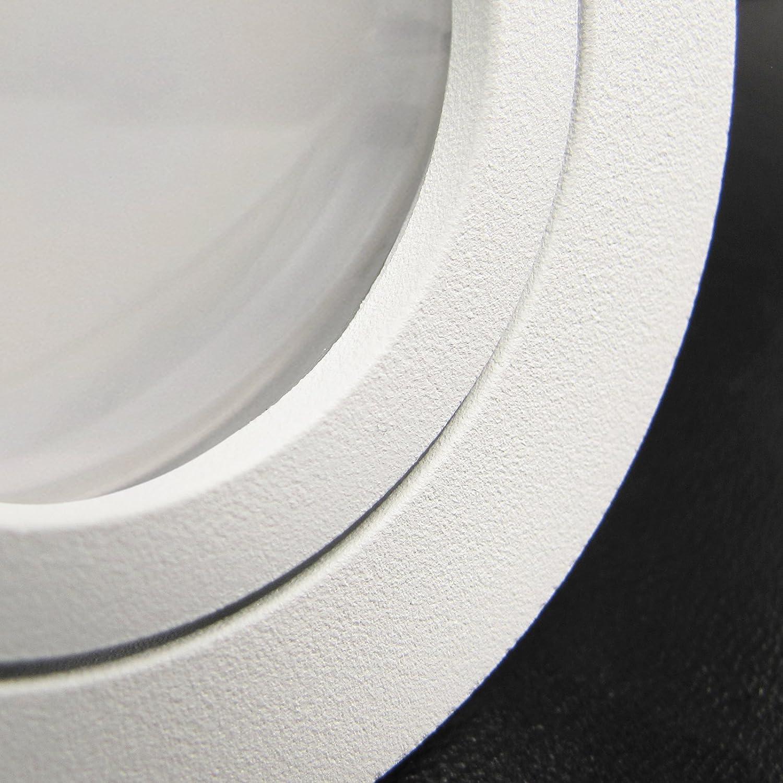 BIANCO LED 8er Set 6W dimmbar 230V GU10 Decken Einbaustrahler eckig/quadratisch WEIß WEISS MATT Neutral-Weiß schwenkbar Einbauleuchte Downlight 3er Set Rund Led Kalt-w.