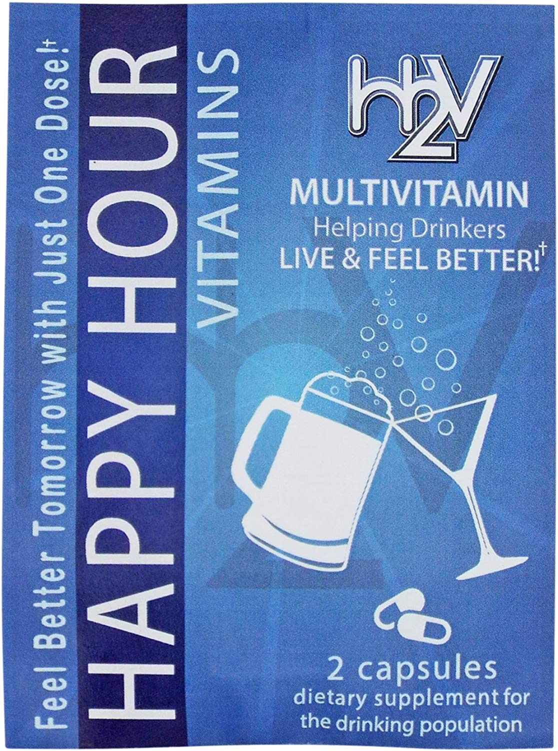 Happy Hour Vitamins- 24 Packs - Multivitamin Formulated for Better Mornings – Live & Feel Better with Milk Thistle, Prickly Pear Cactus, B & C Vitamins, & More