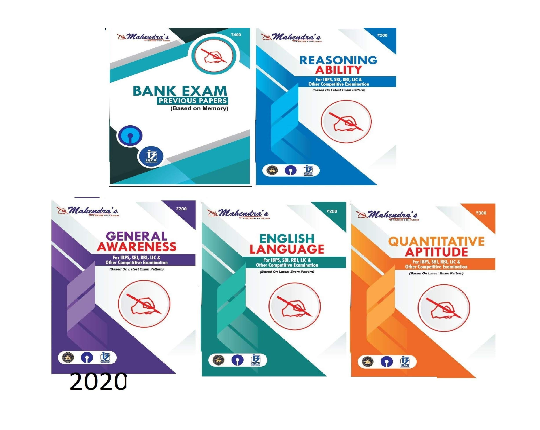 Mahendras Bank Kit English Latest Material (Combo of 5) [ BANK | PO | CLERK | ENTRANCE | EXAM | RRB | IBPS | PO | LIC | RBI EXAM ]