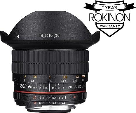 Rokinon 12 M-C 12 mm F2.8 Lente Ultra Gran Ojo de Pez Lente para ...