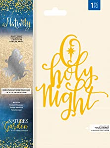 Nature's Garden NG-NAT-MD-OHN Nativity-Die-O Holy Night, Silver