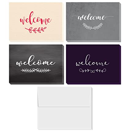Amazon welcome cards box set includes 36 assorted greeting welcome cards box set includes 36 assorted greeting cards and envelopes blank on the m4hsunfo