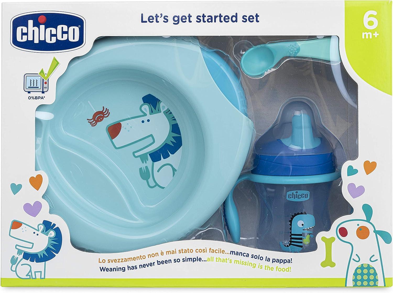 Chicco 00016200200000 Set de Comida, 6 Meses +, Azul: Amazon.es: Bebé