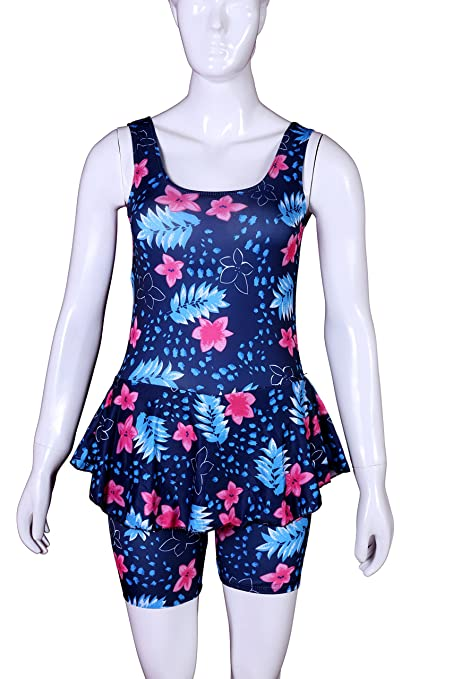 734252aa8eb3d Women's Swimsuit (women swimming costume) (Large size) frock style swimming  costume, one piece swimming costume: Amazon.in: Sports, Fitness & Outdoors