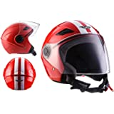 Amazon.es: Unik Casco Jet CJ-16 Trend Negro y Rojo Mate (S)