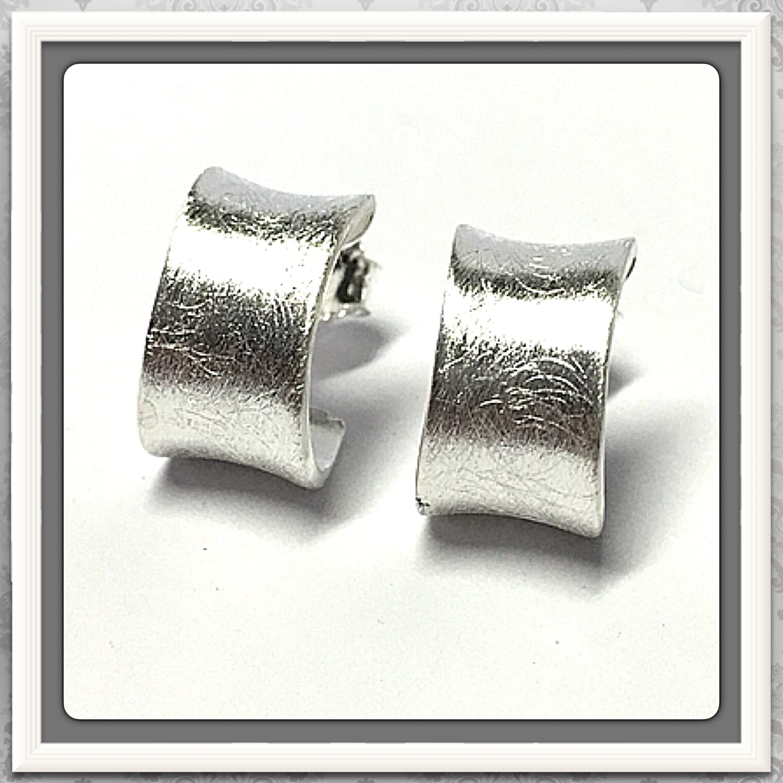 Halbcreole 925/- Silber - eismattiert