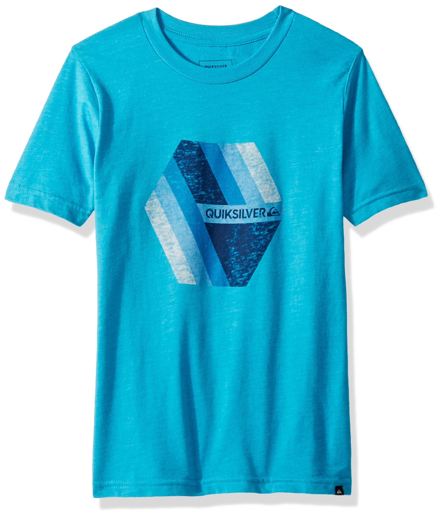Quiksilver Big Boys' Retro Right Youth Tee Shirt, Typhoon Heather, XL/16